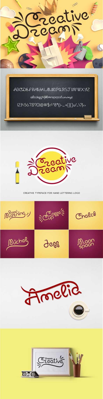 Creative Dream Font  - Calligraphy Script