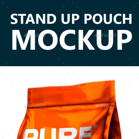Mockup Stand up Pouch