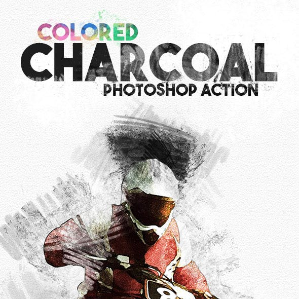Colored Charcoal Photoshop Action