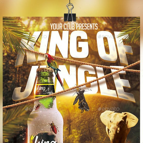 King Of Jungle Flyer Template