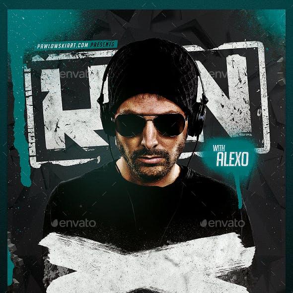 Club DJ Minimal Flyer PSD Template