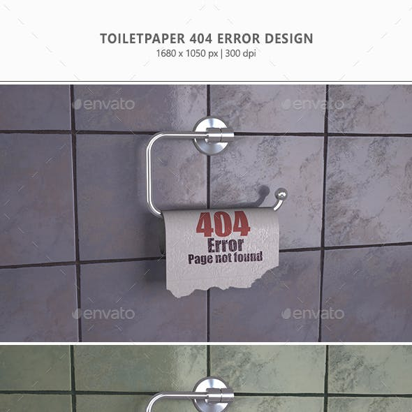 Toiletpaper 404 Error Design