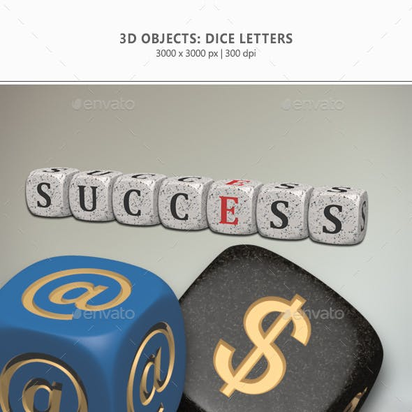 3D Objects - Dice Letters