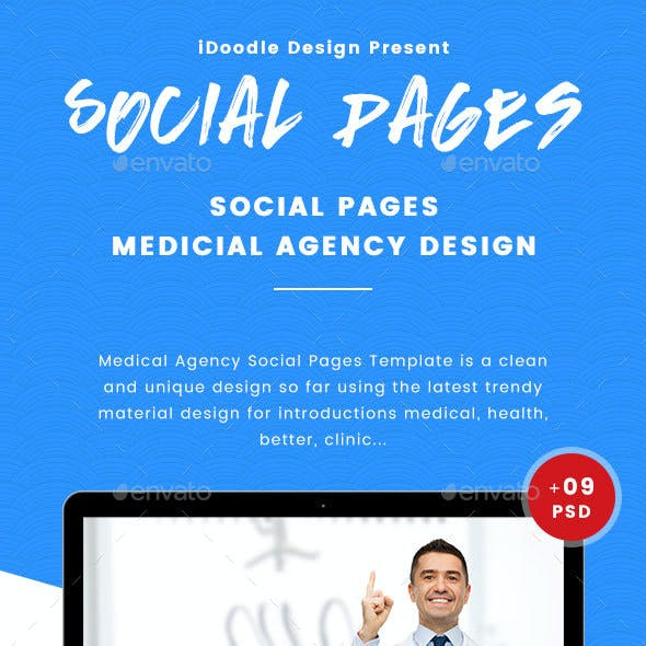 Medical Agency Social Pages - 09 PSD