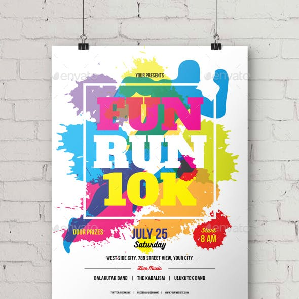 Fun Run 10K Flyer/Poster