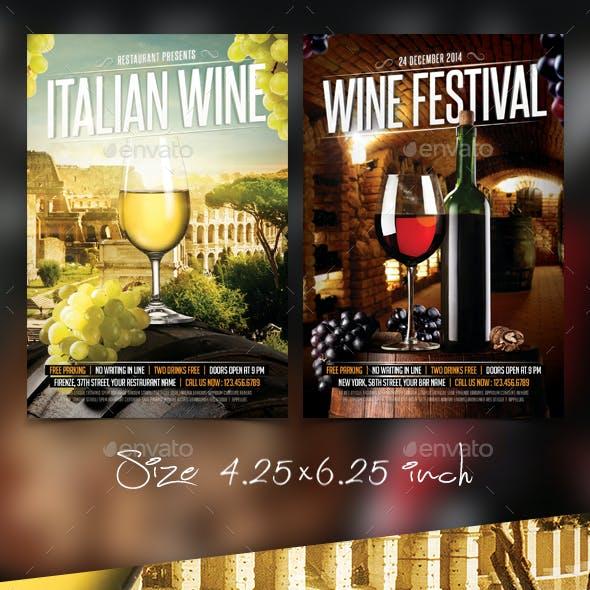 Wine Flyers Bundle