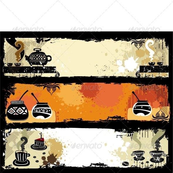 Tea, Coffee and Yerba Mate banners