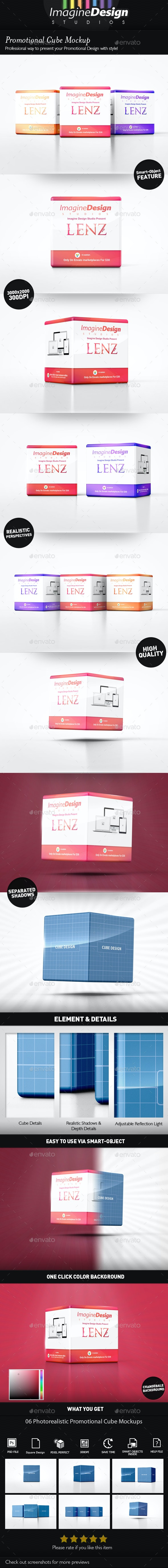 Promotional Cube Display Mockup - Miscellaneous Packaging