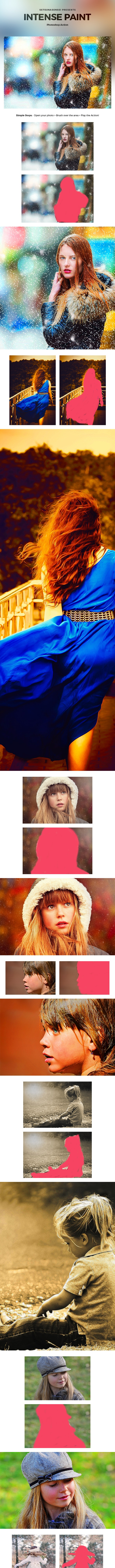 Intense Paint Photoshop Action - Photo Effects Actions