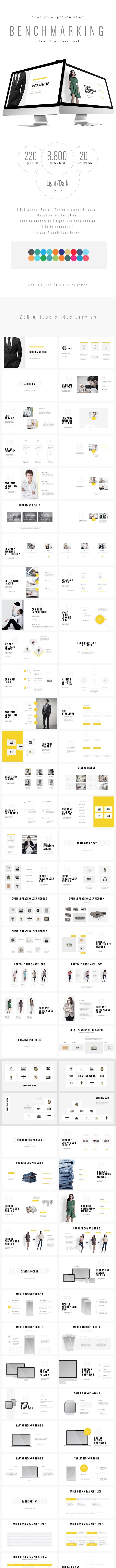 Benchmarking - Multipurpose PowerPoint Template (V.26) - Business PowerPoint Templates