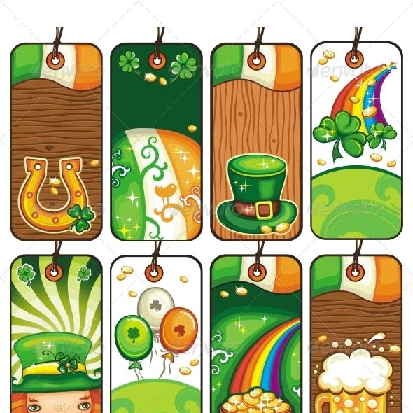 Series of Labels for the St. Patrick's Day