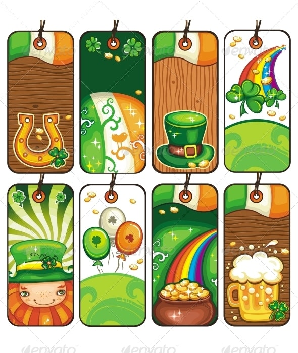 Series of Labels for the St. Patrick's Day - Seasons/Holidays Conceptual