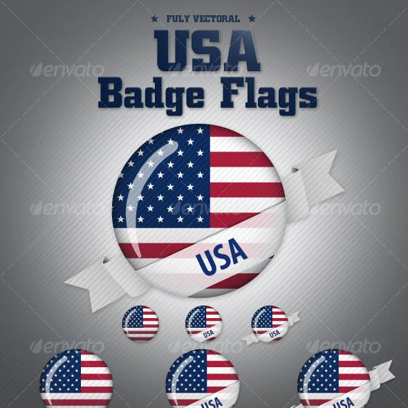 American Flag Badges