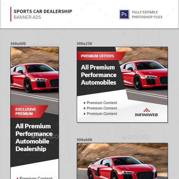 Sports Car Dealership Banners
