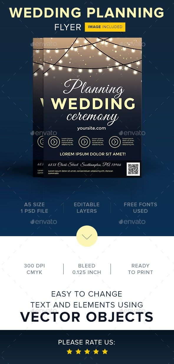 Wedding Planning Ceremony Flyer - Flyers Print Templates