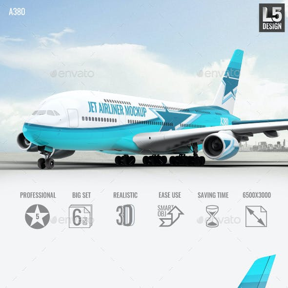 Jet Airliner A380 Mock-Up