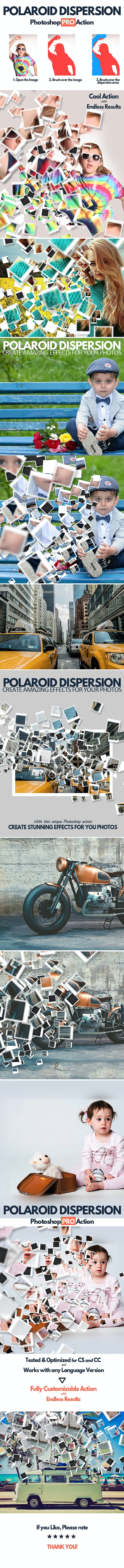 Polaroid Dispersion Photoshop Action - Photo Effects Actions