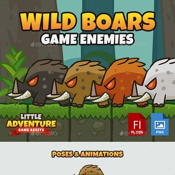 Wild Boar Enemy Sprites