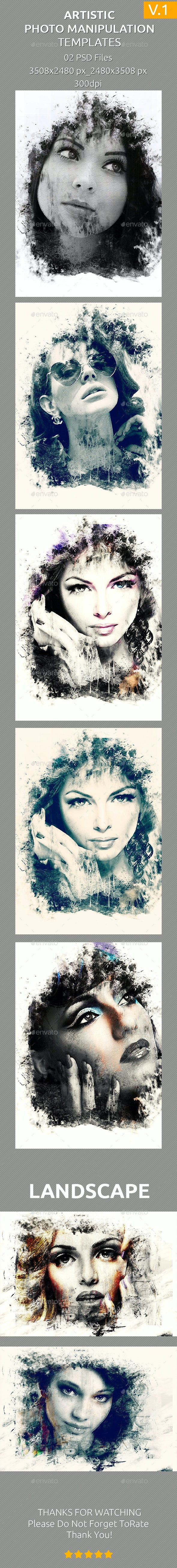 Artistic Photo Manipulation Templates - Artistic Photo Templates
