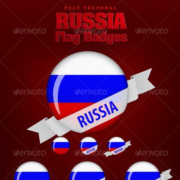 Russia Flag Badges