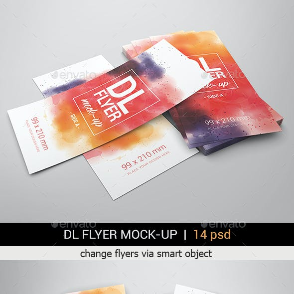 DL Flyer Mock-Ups