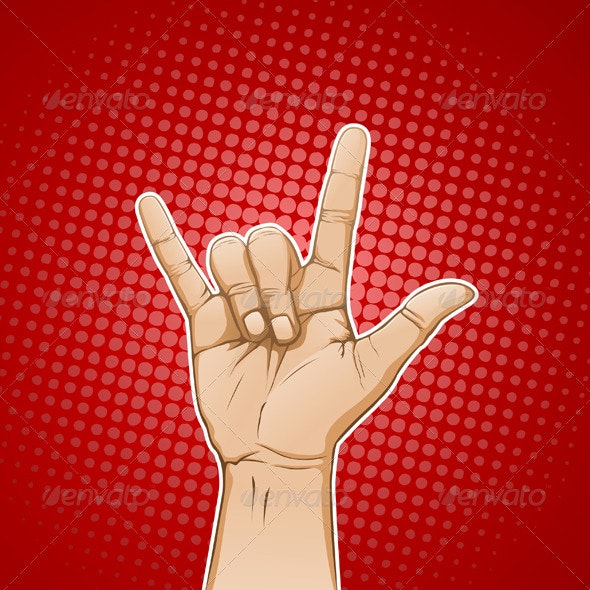 Rock Sign Hand - Objects Vectors