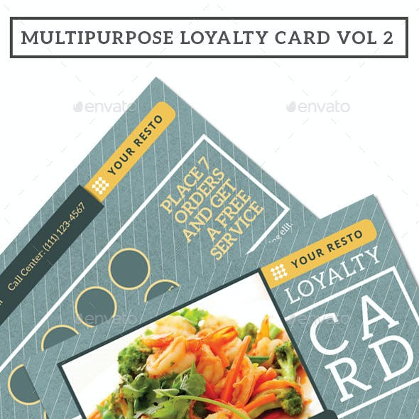 Multipurpose Loyalty Card Vol 2
