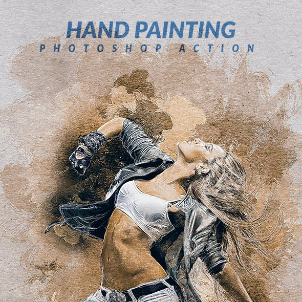 Hand Painting Photoshop Action