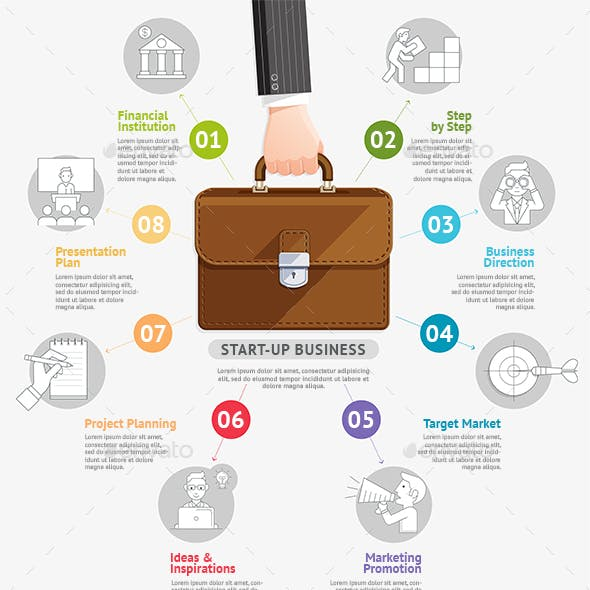 Business Start Up Planning Infographics Template.