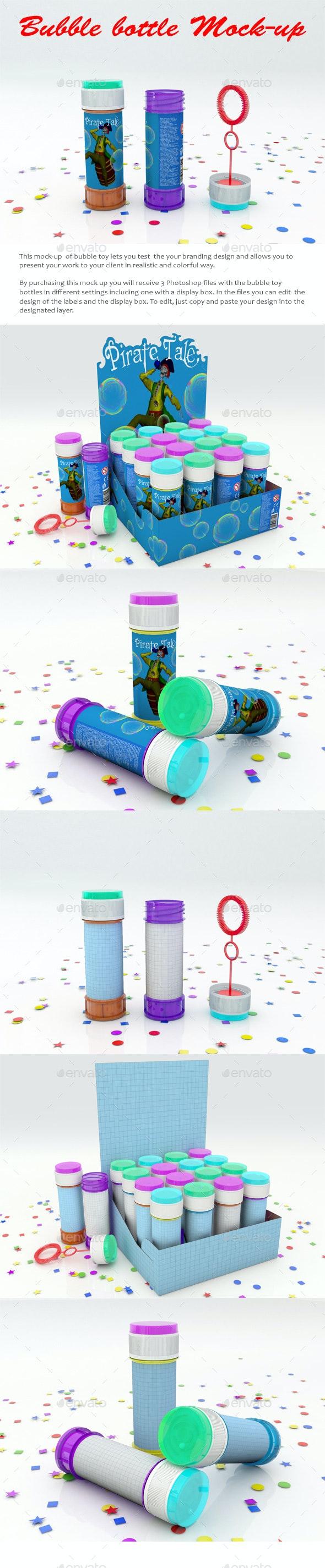Soap Bubbles Bottle Mock-Up - Miscellaneous Packaging