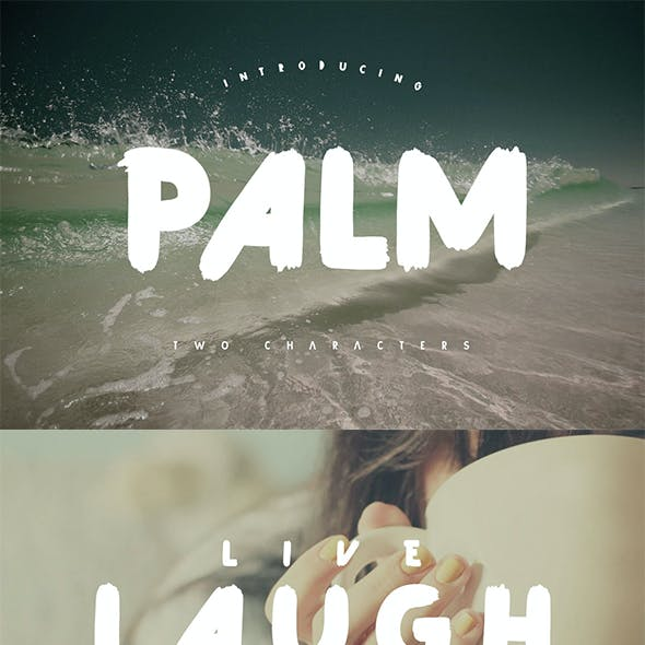 Palm Brush Font
