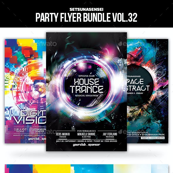 Party Flyer Bundle Vol.32