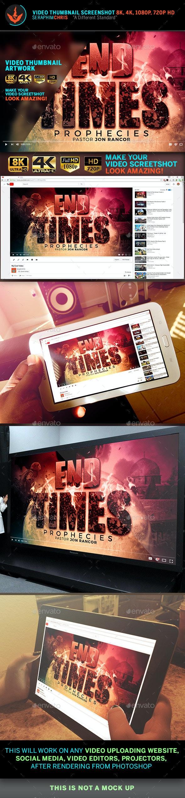 End Time Prophecies YouTube Thumbnail Screenshot Template - YouTube Social Media