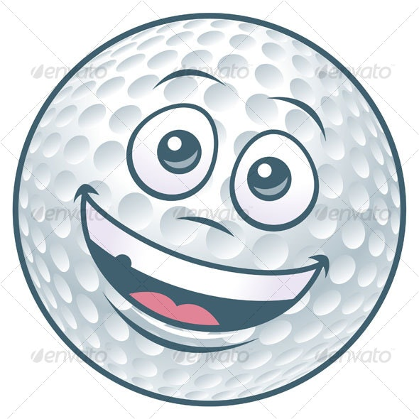Cartoon Golf Ball Character - Miscellaneous Characters