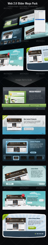 Web 2.0 Sliders Mega Pack - Web Elements