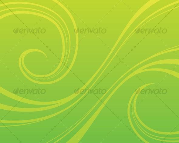 Swirly Green Background - Backgrounds Decorative