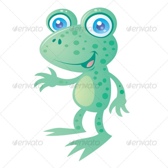 Happy Frog Cartoon - Animals Characters