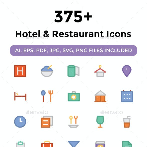 375+ Hotel and Restaurant Icons