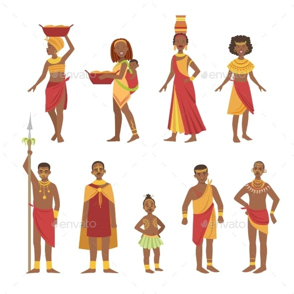 African National Tribal Outfit Collection