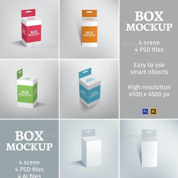 Hang Slot Packaging Box Mockup