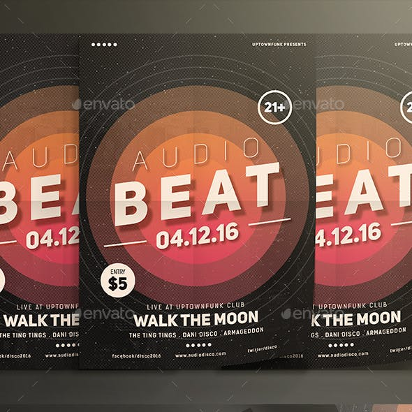 Audio Beat Music Party Flyer