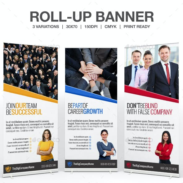 Join Us Business Roll Up Banner