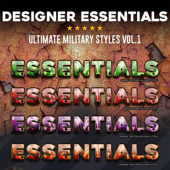 Designer Essentials Military Vol.1