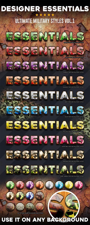 Designer Essentials Military Vol.1 - Text Effects Styles