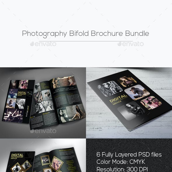 Photography Bifold Brochure Bundle