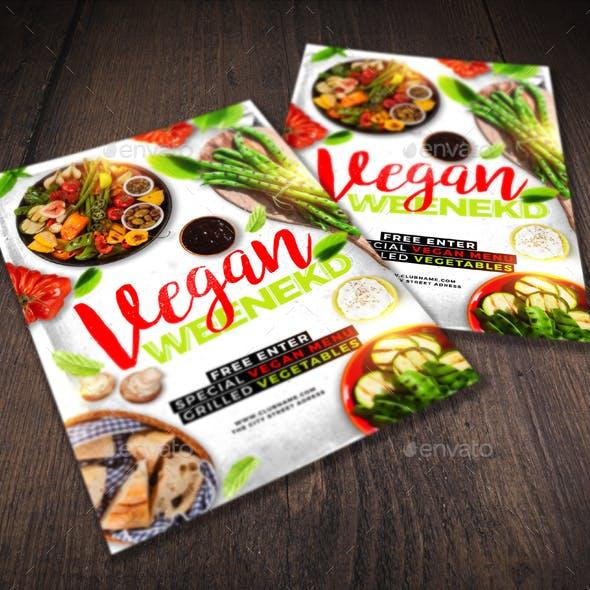 Vegan Weekend Flyer