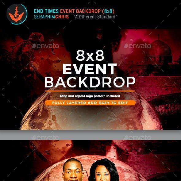 End Time Prophecies 8x8 Backdrop Template