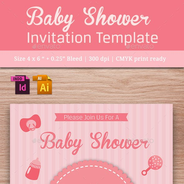 Baby Shower Template - Vol. 15