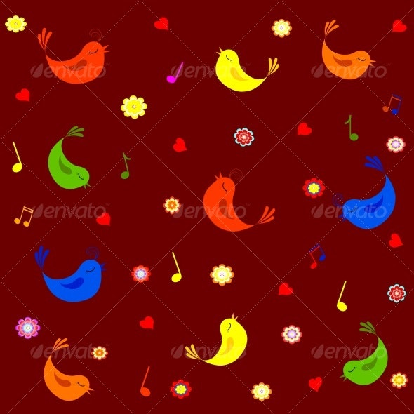 vector illustration of pattern background - Valentines Seasons/Holidays