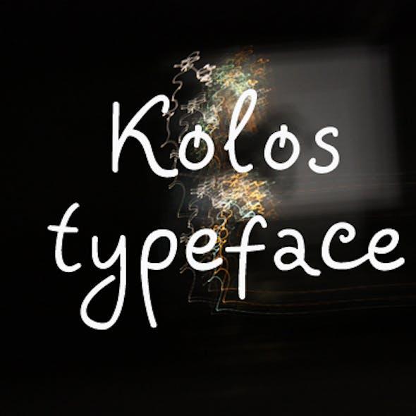 Kolos typeface